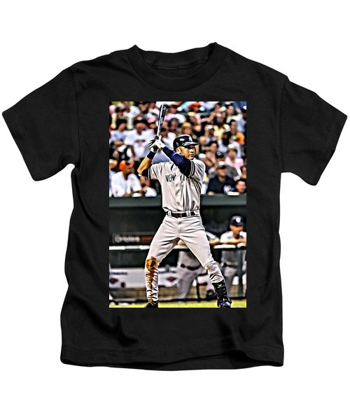 Derek Jeter Painting Kids T-Shirt