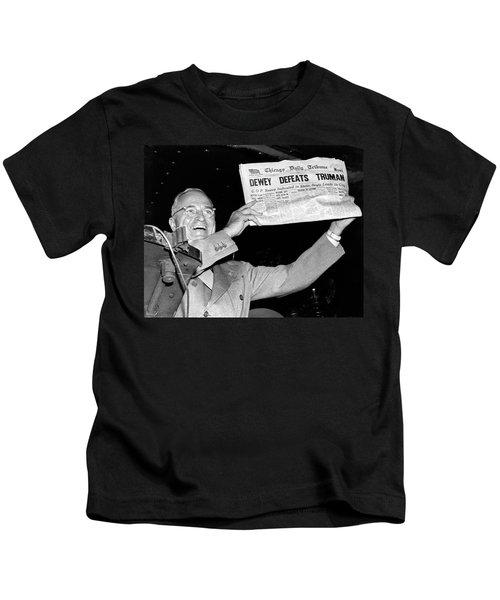 Dewey Defeats Truman Newspaper Kids T-Shirt
