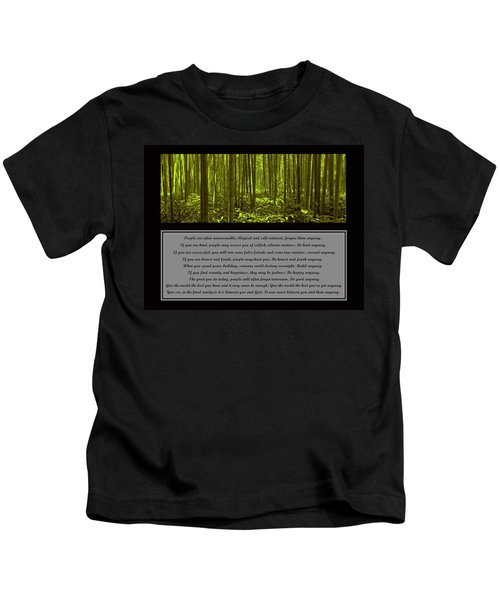 Do It Anyway Bamboo Forest Kids T-Shirt