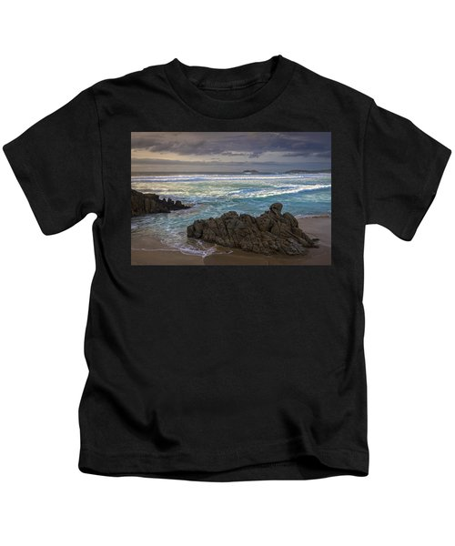 Doninos Beach Ferrol Galicia Spain Kids T-Shirt