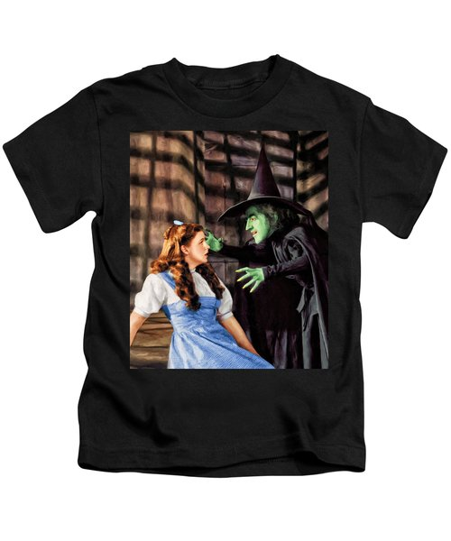 Dorothy And The Wicked Witch Kids T-Shirt