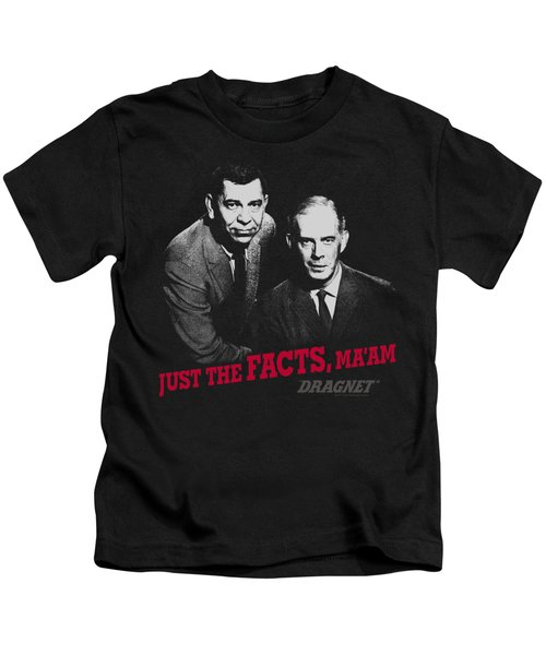 Dragnet - Just The Facts Kids T-Shirt
