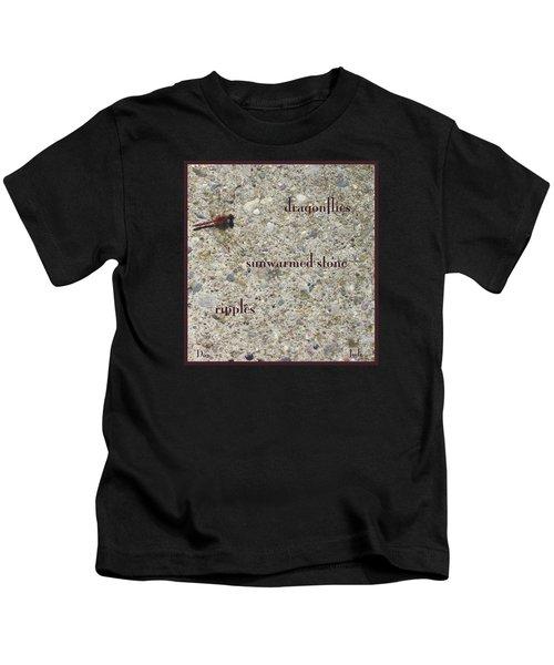 Dragonflies Haiga Kids T-Shirt