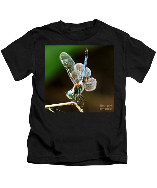 Dragonfly Headstand Kids T-Shirt