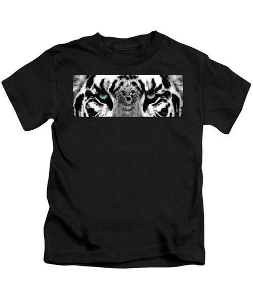 Dressed To Kill - White Tiger Art By Sharon Cummings Kids T-Shirt