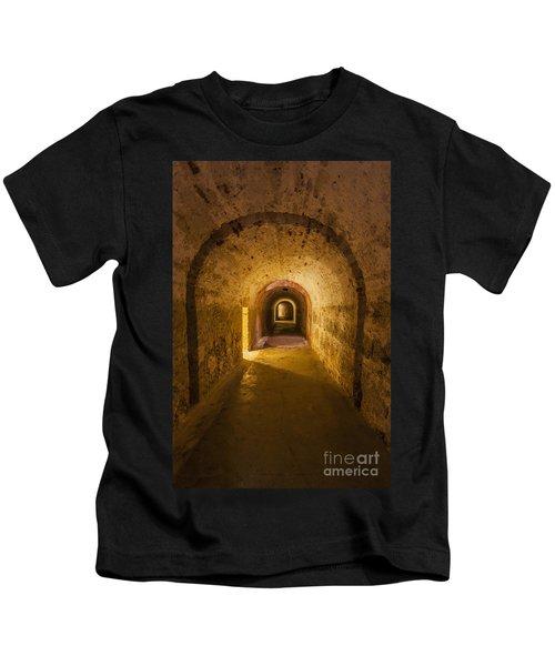 Dungeon At Castillo San Cristobal In Old San Juan Puerto Rico Kids T-Shirt