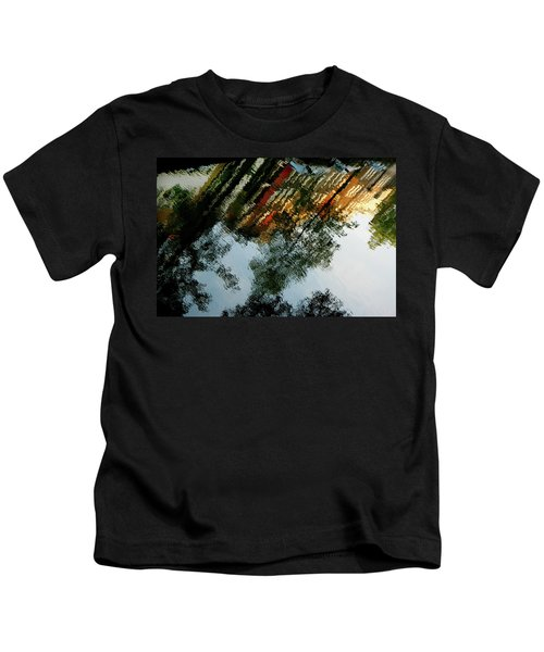Dutch Canal Reflection Kids T-Shirt