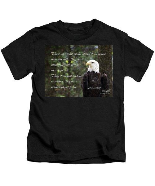 Eagle Scripture Isaiah Kids T-Shirt