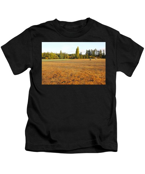 Early Fall Morning In The Rough On The Golf Course Kids T-Shirt