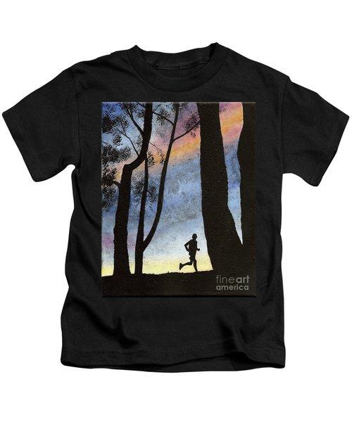 Early Morning Run Kids T-Shirt