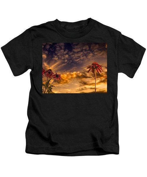 Echinacea Sunset Kids T-Shirt
