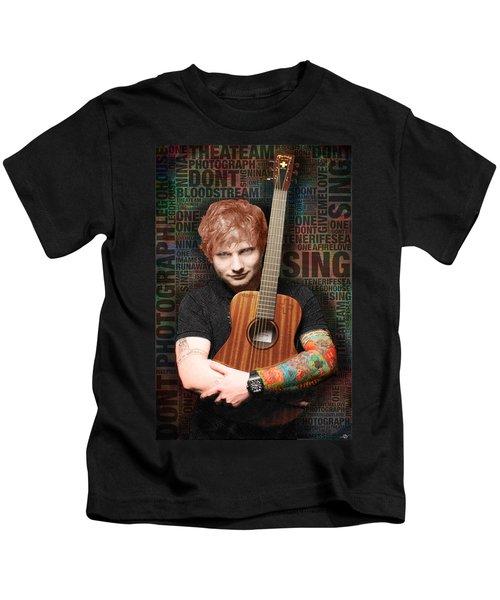 Ed Sheeran And Song Titles Kids T-Shirt