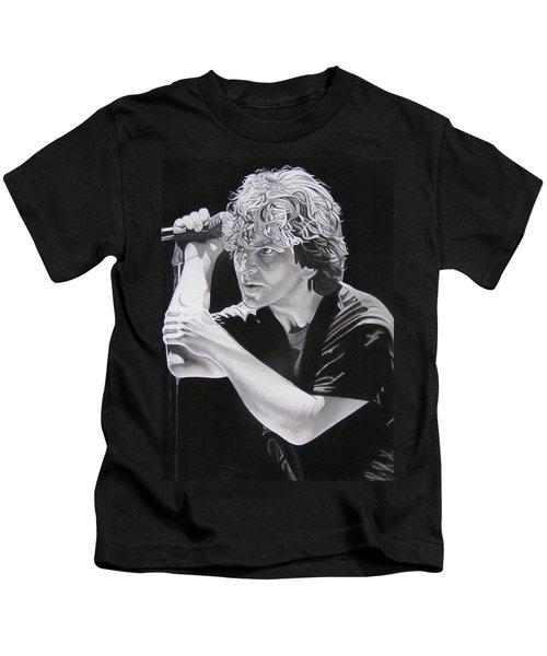 Eddie Vedder Black And White Kids T-Shirt