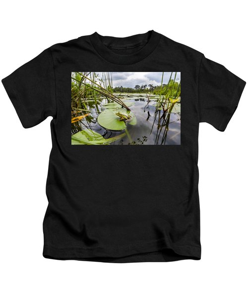 Edible Frog On Lily Pad Overijssel Kids T-Shirt