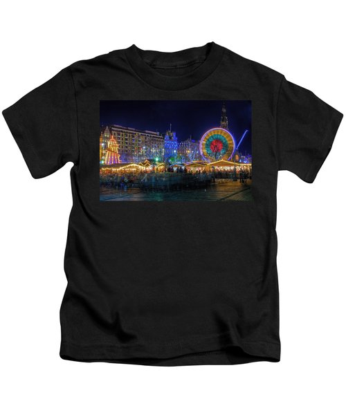 Edinburgh Christmas Market Kids T-Shirt