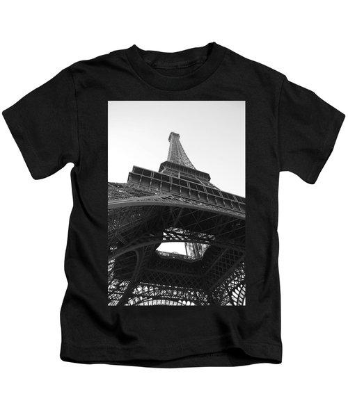 Eiffel Tower B/w Kids T-Shirt