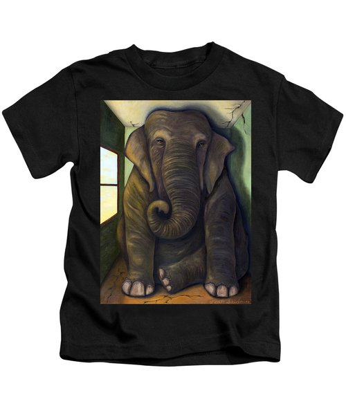 Elephant In The Room Kids T-Shirt