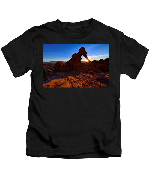 Elephant Sunrise Kids T-Shirt