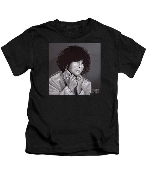 Elizabeth Taylor Kids T-Shirt by Paul Meijering