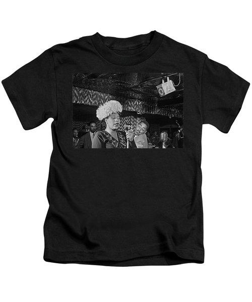 Ella Fitzgerald And Dizzy Gillespie William Gottleib Photo Unknown Location September 1947-2014. Kids T-Shirt
