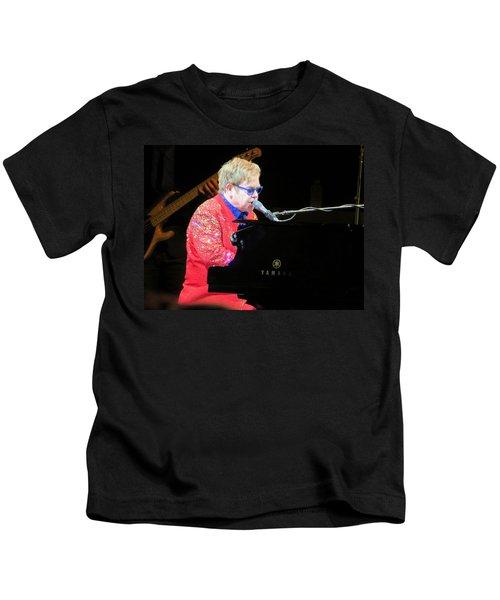 Elton John Live Kids T-Shirt by Aaron Martens