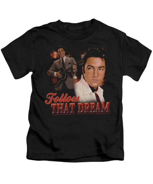 Elvis - Follow That Dream Kids T-Shirt