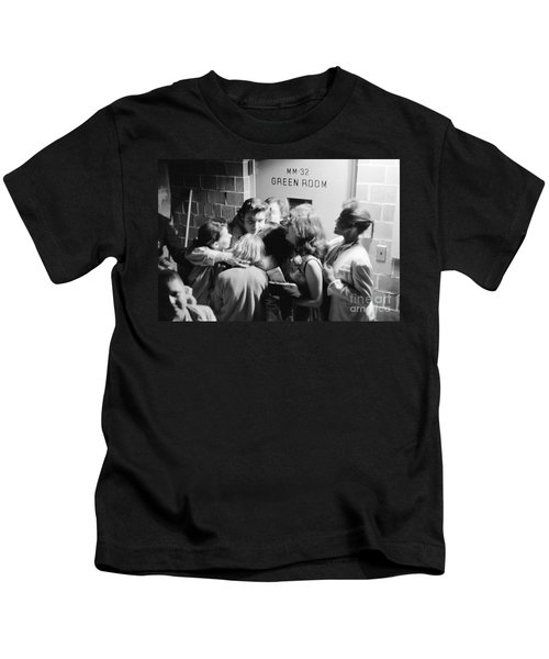 Elvis Presley Hugging Fans 1956 Kids T-Shirt