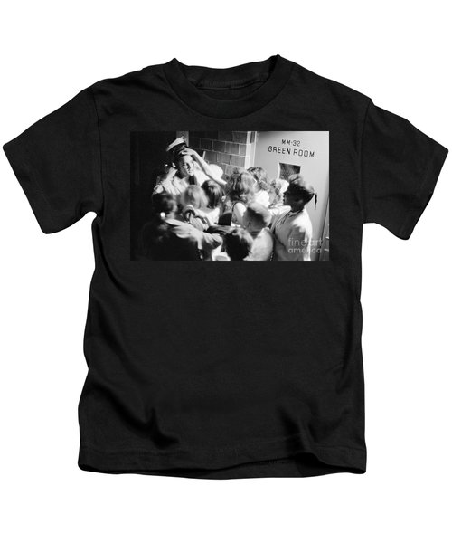 Elvis Presley Mobbed By Adoring Fans 1956 Kids T-Shirt