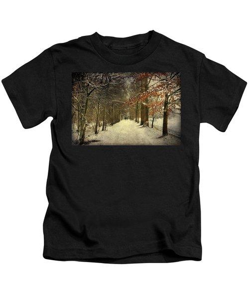 Enchanting Dutch Winter Landscape Kids T-Shirt