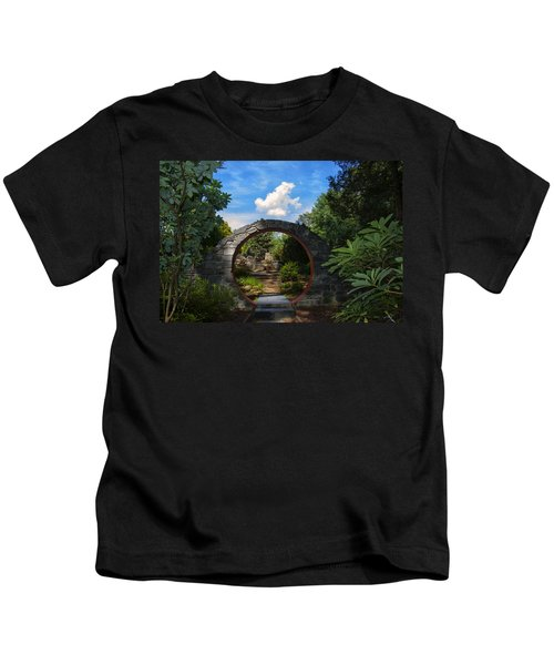Entering The Garden Gate Kids T-Shirt