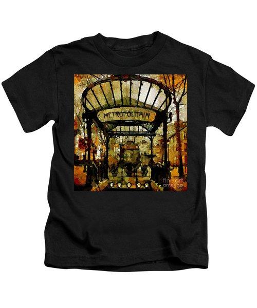 Entrance To The Paris Metro Kids T-Shirt