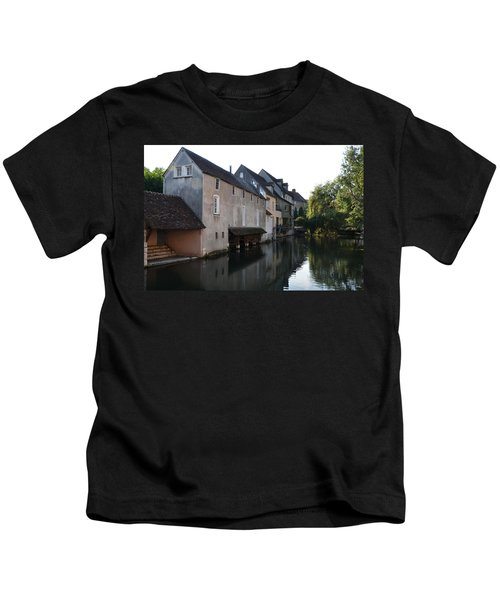Eure River And Old Fulling Mills In Chartres Kids T-Shirt