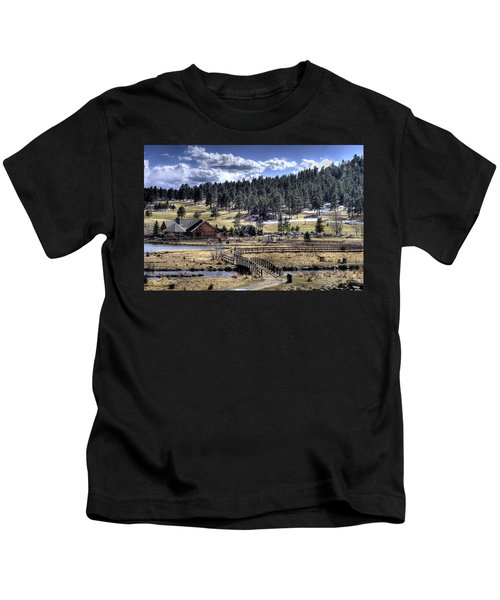Evergreen Colorado Lakehouse Kids T-Shirt