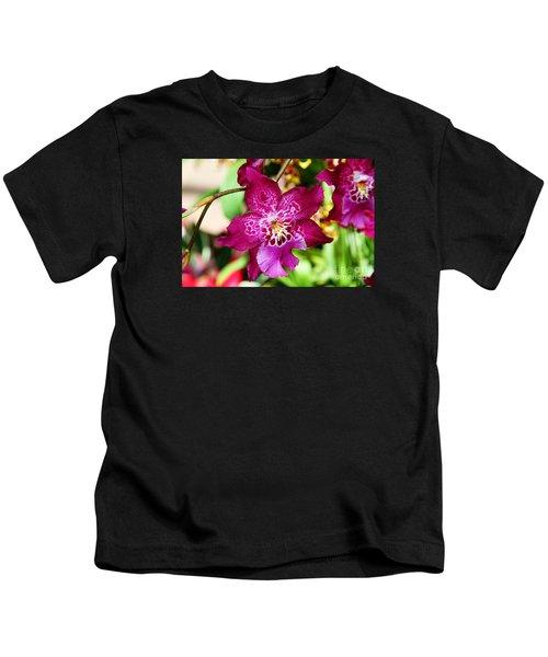 Fabulous Fushia Orchids By Diana Sainz Kids T-Shirt
