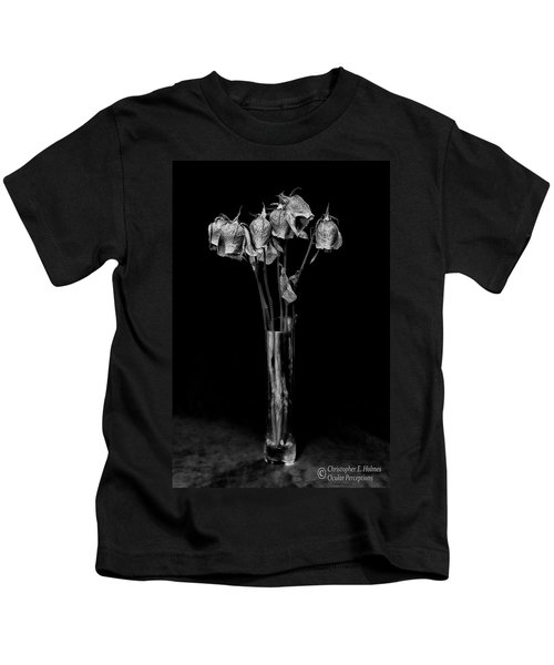Faded Long Stems - Bw Kids T-Shirt