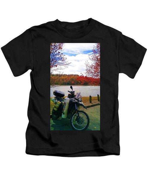 Fall At Fern Clyffe Kids T-Shirt