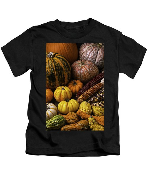 Fall Autumn Abundance Kids T-Shirt