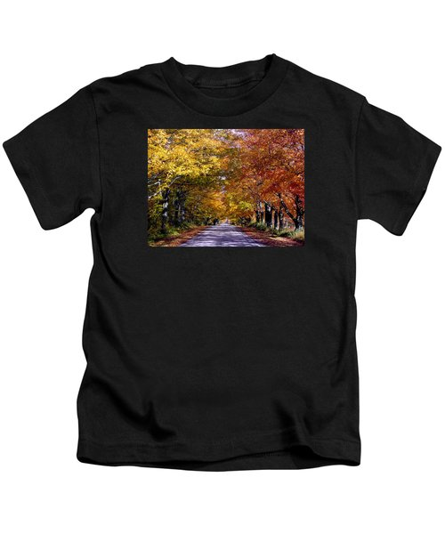 Fall Colors Near Sister Bay Kids T-Shirt