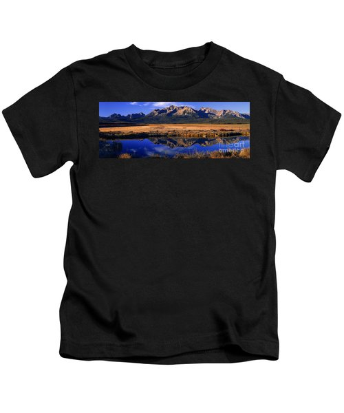 Fall Reflections Sawtooth Mountains Idaho Kids T-Shirt