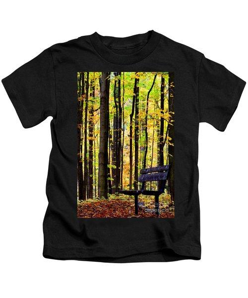 Fall Woods In Michigan Kids T-Shirt