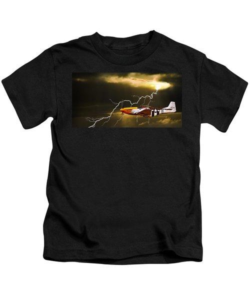 Ferocious Frankie In A Storm Kids T-Shirt
