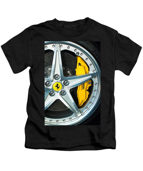 Kids T-Shirt featuring the photograph Ferrari Wheel 3 by Jill Reger