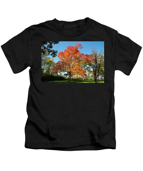 Fiery Fall Kids T-Shirt