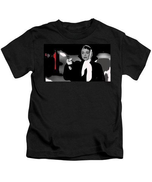 Film Noir Joan Crawford Jack Palance Sudden Fear 1952 Rko Publicity Photo Color Added 2012 Kids T-Shirt