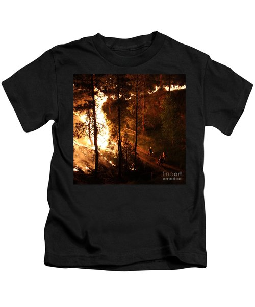 Firefighters Burn Out On The White Draw Fire Kids T-Shirt