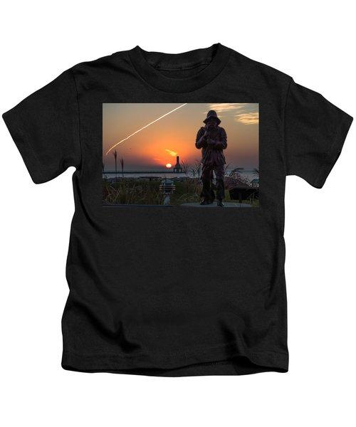 Fisherman Sunrise Kids T-Shirt