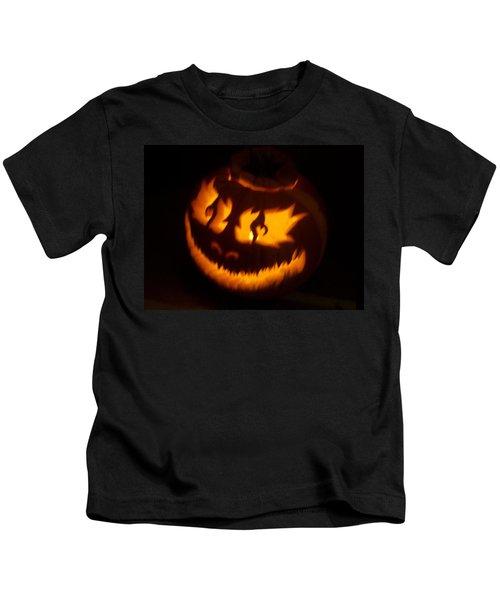 Flame Pumpkin Side Kids T-Shirt