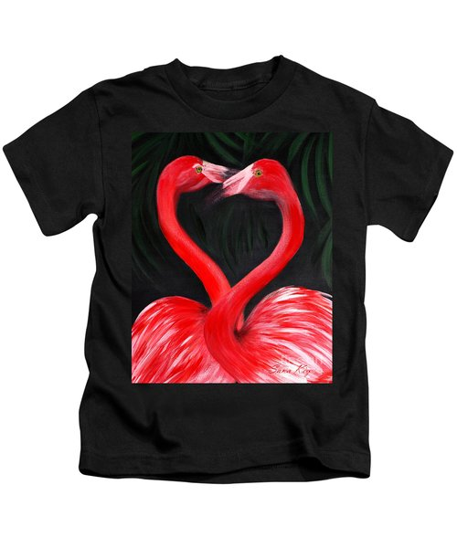Love  Is... Flamingo Love. Inspirations Collection Kids T-Shirt