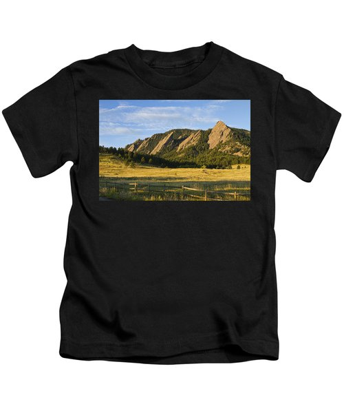 Flatirons From Chautauqua Park Kids T-Shirt
