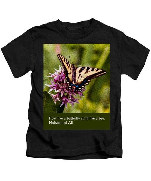 Float Like A Butterfly Kids T-Shirt